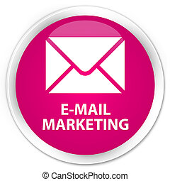 E-mail marketing premium pink round button