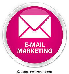 E-mail marketing premium pink round button