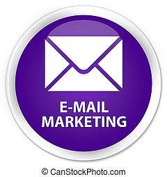 E-mail marketing premium purple round button
