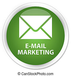 E-mail marketing premium soft green round button