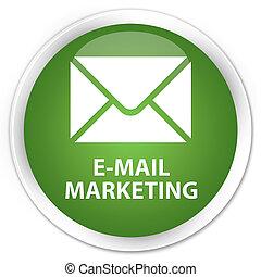 E-mail marketing premium soft green round button