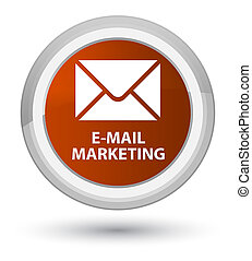 E-mail marketing prime brown round button