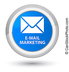 E-mail marketing prime cyan blue round button