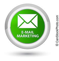E-mail marketing prime green round button