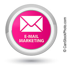 E-mail marketing prime pink round button