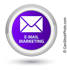 E-mail marketing prime purple round button