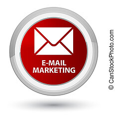E-mail marketing prime red round button