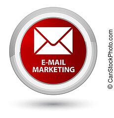 E-mail marketing prime red round button