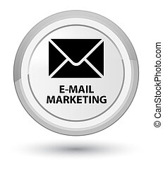 E-mail marketing prime white round button