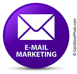 E-mail marketing purple round button