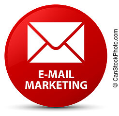 E-mail marketing red round button