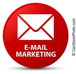 E-mail marketing red round button