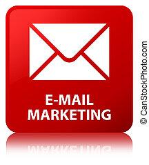 E-mail marketing red square button