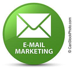 E-mail marketing soft green round button