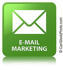 E-mail marketing soft green square button