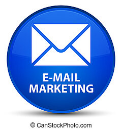 E-mail marketing special blue round button