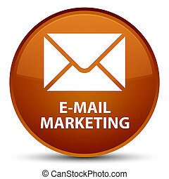 E-mail marketing special brown round button
