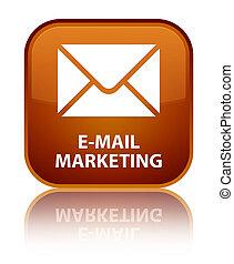 E-mail marketing special brown square button
