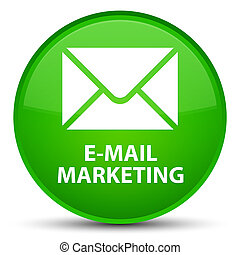 E-mail marketing special green round button