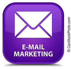 E-mail marketing special purple square button