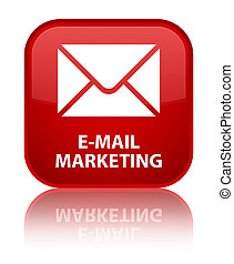 E-mail marketing special red square button