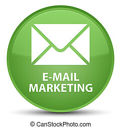 E-mail marketing special soft green round button