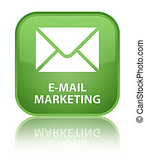 E-mail marketing special soft green square button
