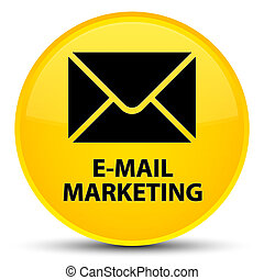 E-mail marketing special yellow round button