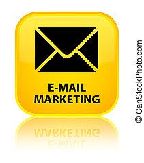 E-mail marketing special yellow square button