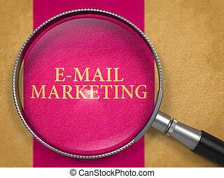 E-mail Marketing through Magnifying Glass.