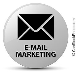 E-mail marketing white round button