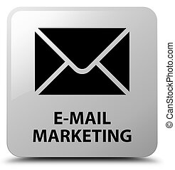 E-mail marketing white square button