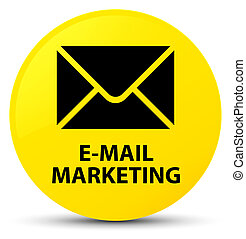 E-mail marketing yellow round button