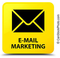 E-mail marketing yellow square button