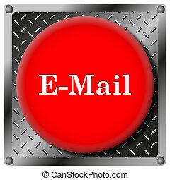 E-mail metallic icon