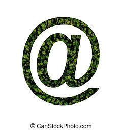 e-mail, mousse, signe, fond blanc