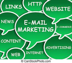 e-mail, nuage, commercialisation