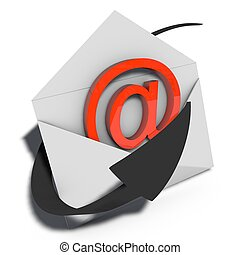 e-mail op de markt te brengen