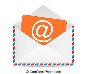 e-mail, símbolo, letra