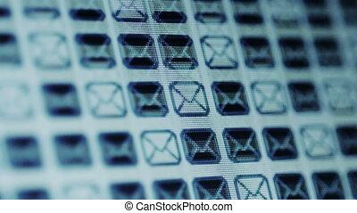 e-mail, scherm, iconen