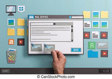 e-mail, service