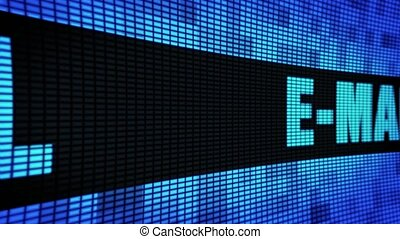 E-Mail Side Text Scrolling LED Wall Pannel Display Sign...