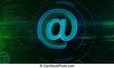 E-mail sign concept - E-mail @ at icon abstract concept....