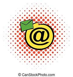 E-mail sign icon, comics style