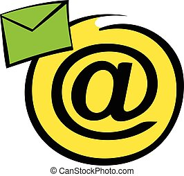 E-mail sign icon, icon cartoon