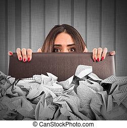 e-mail, submergé, spam