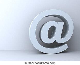 e mail symbol 3d illustration