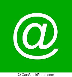 E-mail symbol and background
