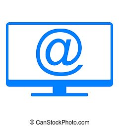 E-mail symbol and screen