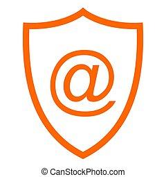 E-mail symbol and shield